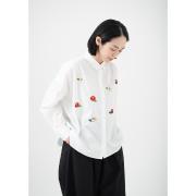KY17-875W/ワイドシャツ[播州織]/椿(白)