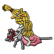 KYWS-144/ワッペン/藁と杖/わらとつえ/【ゆうパケット可】