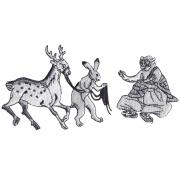 KYWS-673/ワッペン/鹿をひく兎/しかをひくうさぎ/【ゆうパケット可】