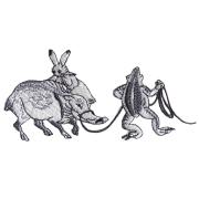 KYWS-674/ワッペン/猪をひく蛙/いのししをひくかえる/【ゆうパケット可】