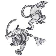 KYWS-678/ワッペン/蛙の田楽/かえるのでんがく/【ゆうパケット可】