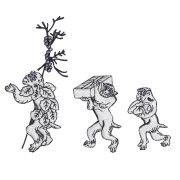 KYWS-828/ワッペン/双六と猿/すごろくとさる/【ゆうパケット可】
