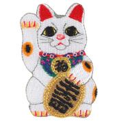 KYWS-933/ワッペン/招き猫 常滑焼/とこなめやき/【DM便可】