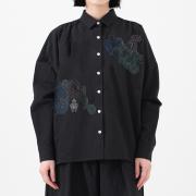 KY17-497/綿麻ワイドシャツ[播州織]/遮光器