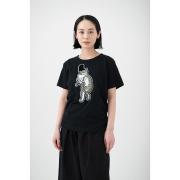 KY54-677/Tシャツ(黒)/猫