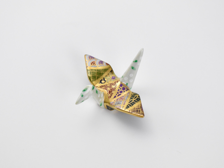 金彩折り鶴はしおき 3