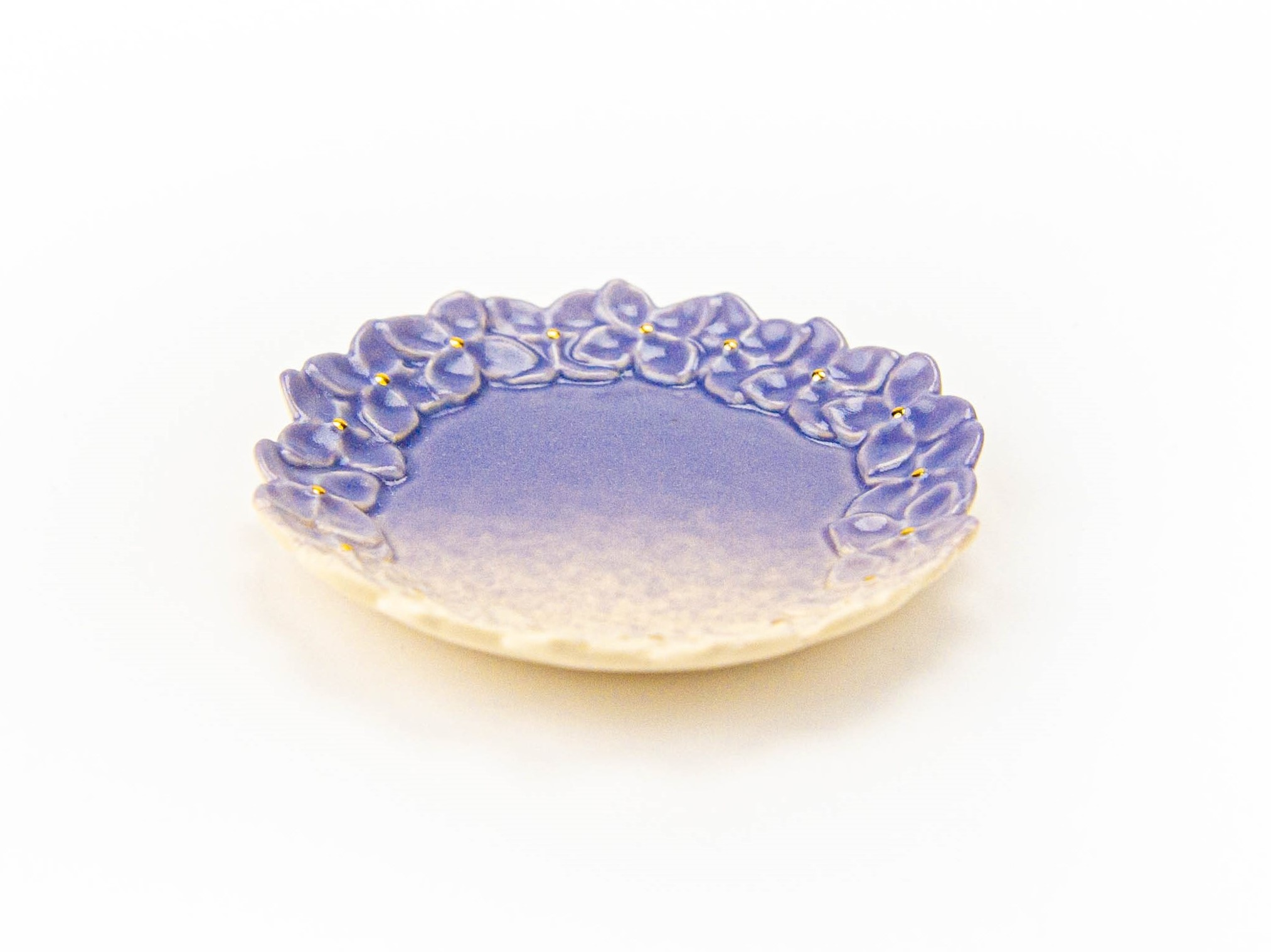 金彩 紫陽花小皿 2