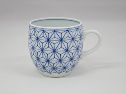 染付麻の葉 マグカップ A