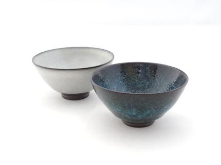 水泡氷裂貫入釉茶碗(小)