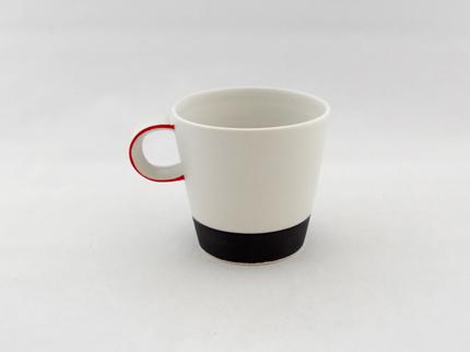 カラーカップ(縁赤)