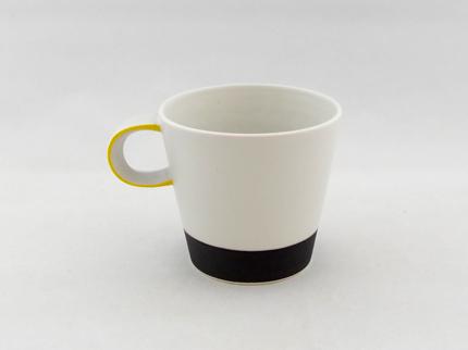 カラーカップ(縁黄)