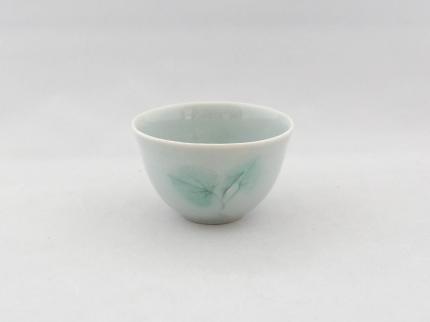 蒼釉湯呑(ドクダミ)