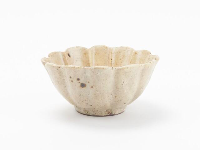 粉引輪花 小鉢