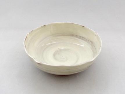 粉引 輪花鉢 (大)