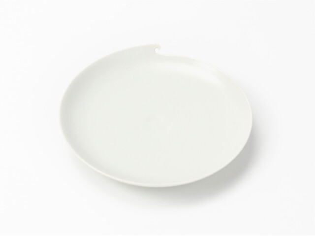 波涛 五寸皿 (白)