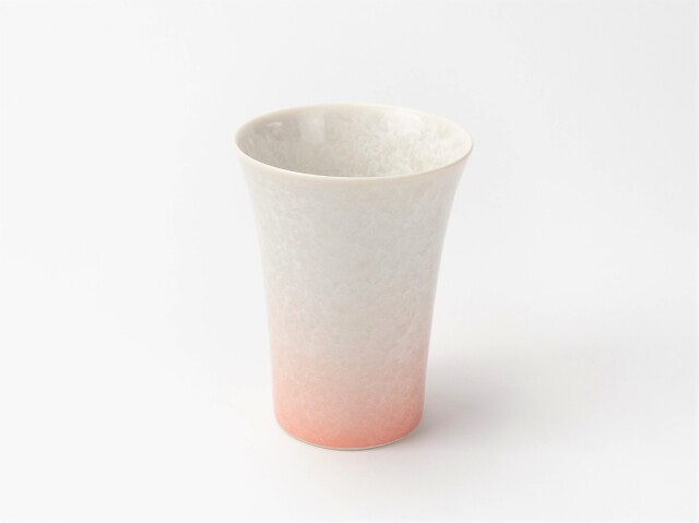 花結晶フリーカップ (白地赤)