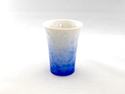 花結晶フリーカップ (白地青)