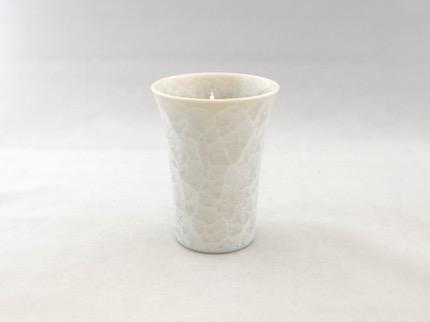 花結晶フリーカップ (白)