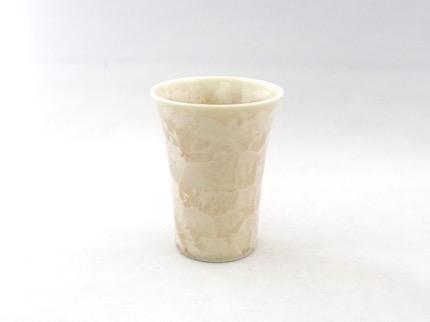 花結晶フリーカップ (茶)