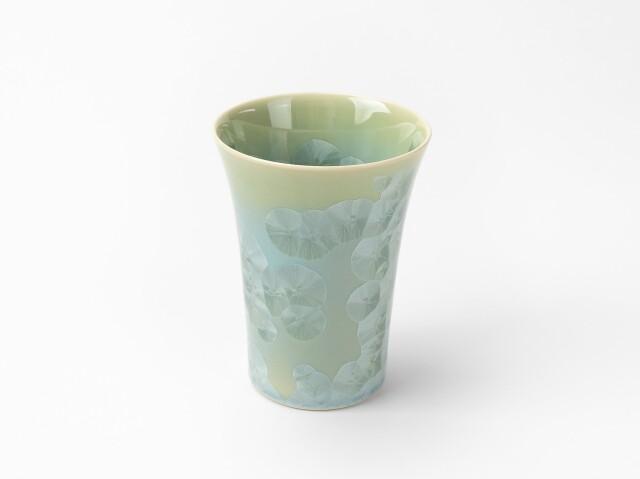 花結晶フリーカップ (緑)