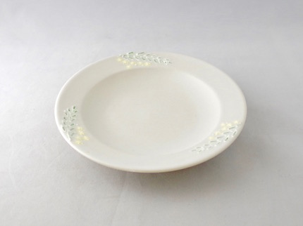 イッチン 5寸皿 (黄花)