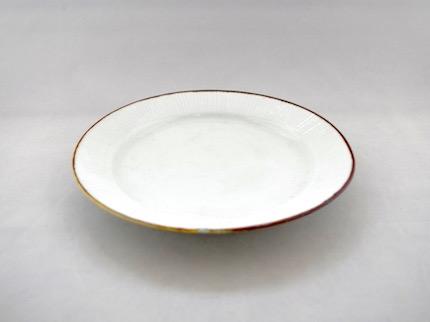 白磁線刻 七寸皿
