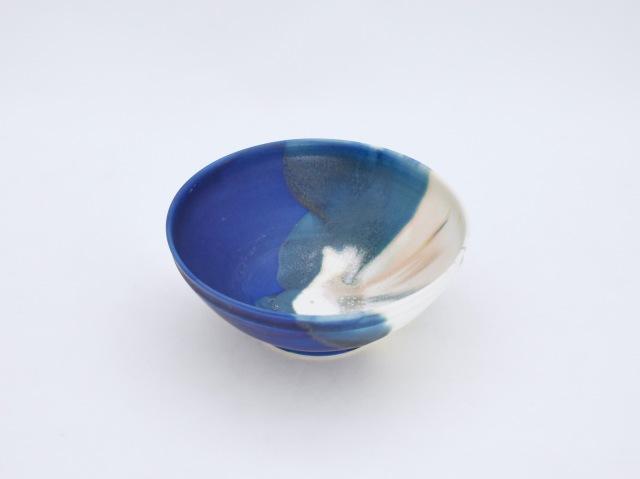 藍×白 掛分鉢