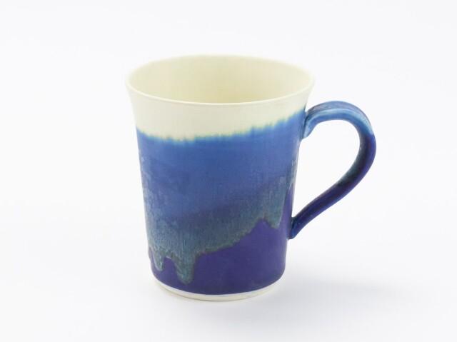 藍×白 掛分マグカップ