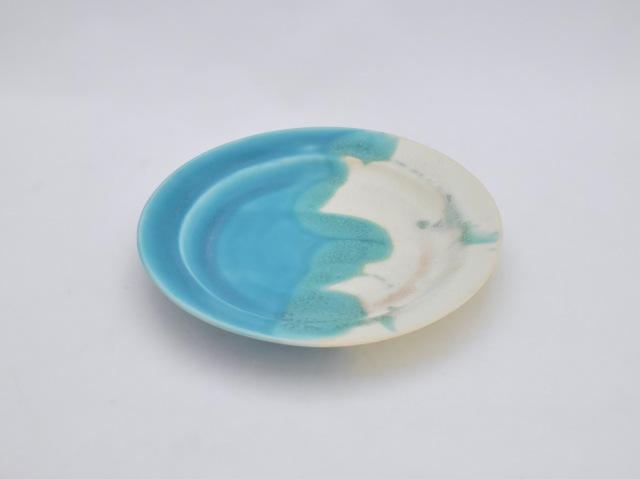 蒼×白 掛分皿