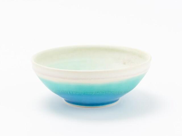 蒼×白 掛分小鉢 大