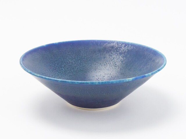 藍釉鉢 大