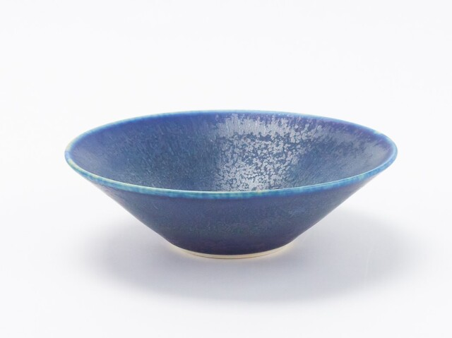 藍釉鉢 小