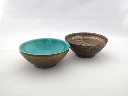 黒金蒼釉取鉢