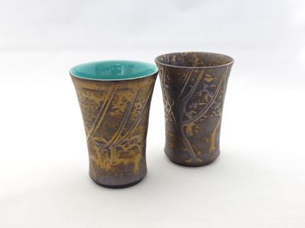 黒金蒼釉フリーカップ