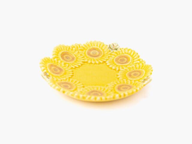 金彩 向日葵小皿 2