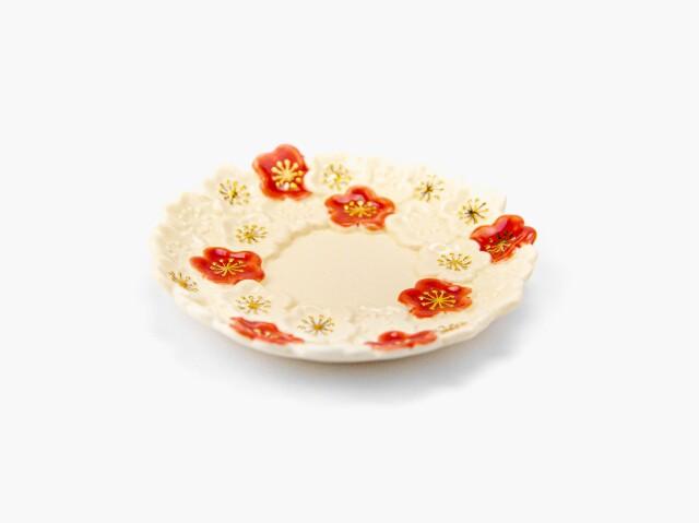 金彩 梅小皿 2