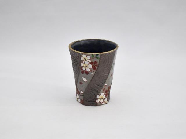 ひねり八角ビアカップ