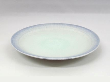 灰釉皿(青)