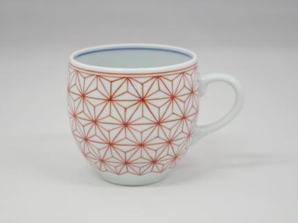 赤絵麻の葉 マグカップ A