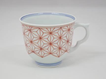 赤絵麻の葉 マグカップ B