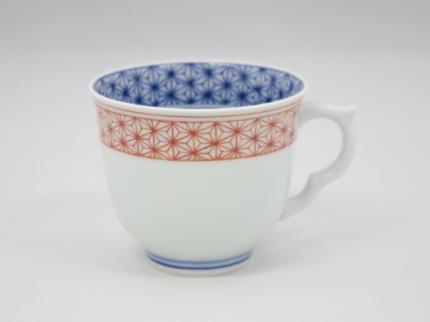 赤絵麻の葉 マグカップ C