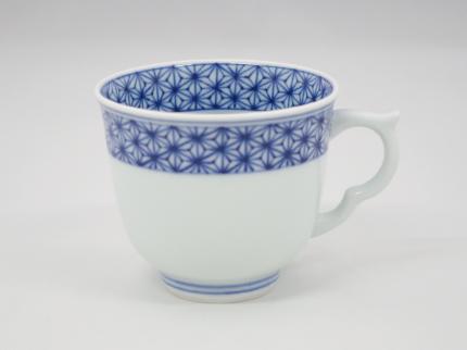 染付麻の葉 マグカップ C