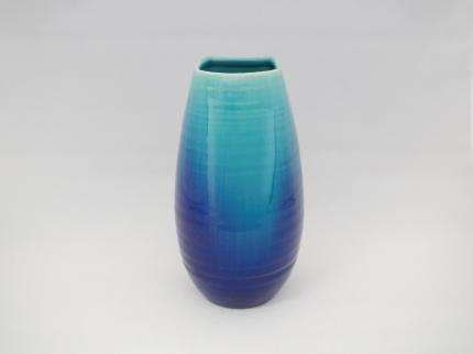 藍彩 花瓶