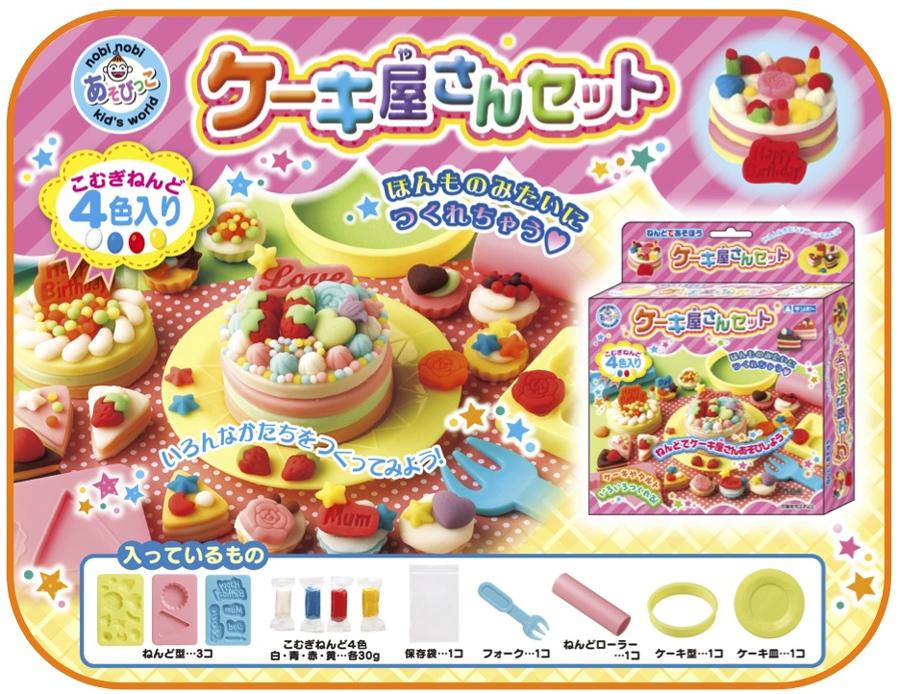 【教材 幼児】 ねんどであそぼう ケーキ屋さんセット