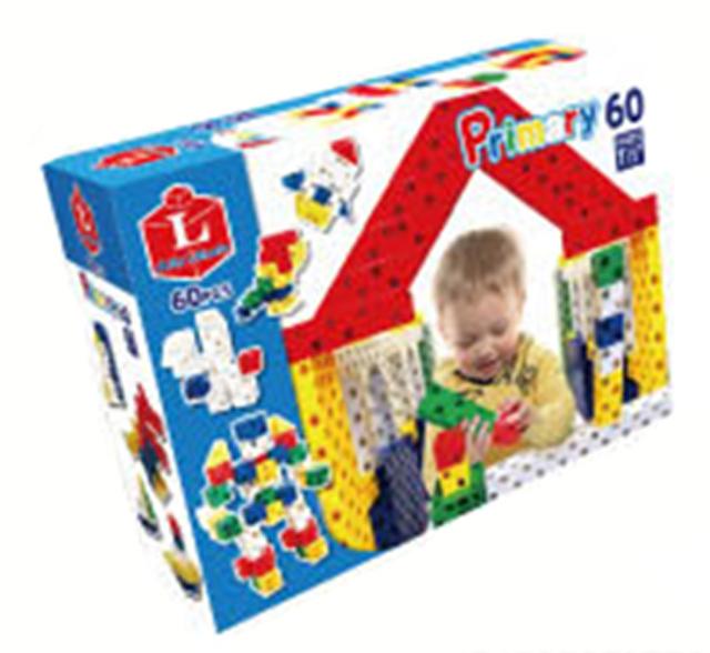 【教材 知育玩具 遊び創意】Lブロック プライマリー60