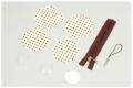 【家庭科教材】 マカロンストラップ クリーム