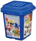 【教材 知育玩具 遊び創意】 ブロック バケツ 220 ビビッド(基本色)