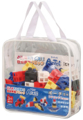 【教材 知育玩具 遊び創意】 ブロック ポーチ54 ビビッド(基本色)
