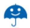 【消せるスタンプ】 フリクションスタンプ (雨 インクブルー)