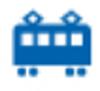【消せるスタンプ】 フリクションスタンプ (電車 インクブルー)